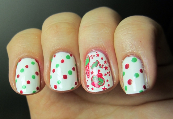 OPI_AlpineSnow_and_BarryM_Pomegranate_and_Essie_MojitoMadness