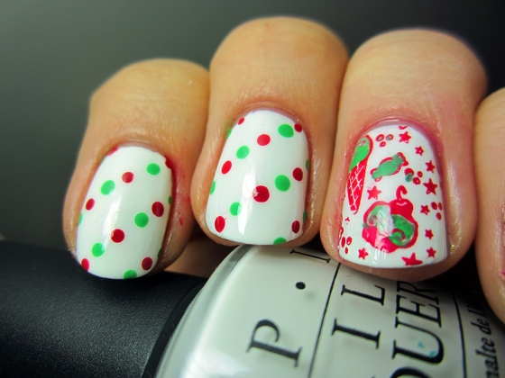 OPI_AlpineSnow_and_BarryM_Pomegranate_and_Essie_MojitoMadness3